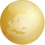Map of Europe sphere Royalty Free Stock Image