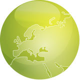 Map of Europe sphere Stock Image