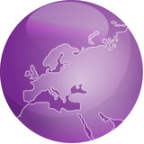 Map of Europe sphere Stock Photos
