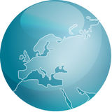 Map of Europe sphere Royalty Free Stock Photos