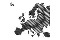 Map of Europe vector Stock Photo