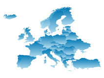 Map Europe Royalty Free Stock Image