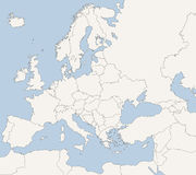 Map of European Countries. In blue and grey tones Stock Photos
