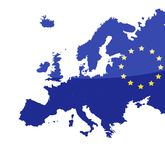 Map of European union Royalty Free Stock Image