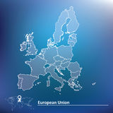 Map of European Union 2015 Stock Photography