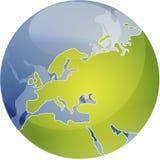Map of Eurpe on globe  Royalty Free Stock Photo