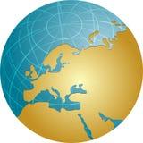 Map of Eurpe on globe Stock Photos