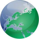 Map of Eurpe on globe   Stock Image