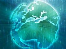 Map of Eurpe on globe  illustration Royalty Free Stock Photography