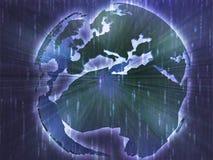 Map of Eurpe on globe  illustration Stock Photos