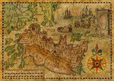 Map of the fantasy world 3 Royalty Free Stock Images
