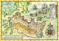 Map of the fantasy world 1 Stock Image