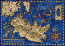 Map of the fantasy world 4 Royalty Free Stock Image