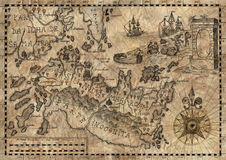 Map of the fantasy world 2 Royalty Free Stock Image