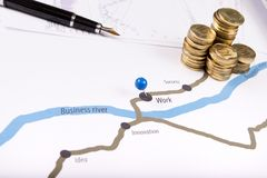 Map of financial success Stock Image