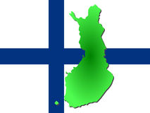 Map of Finland Stock Image