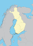 Map of Finland Stock Photography