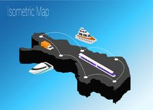 Map Finland isometric concept. 3d flat illustration of Map Finland Royalty Free Stock Photo