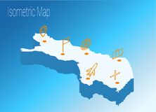 Map Finland isometric concept. 3d flat illustration of Map Finland Stock Photo