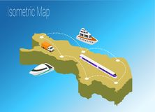 Map Finland isometric concept. 3d flat illustration of Map Finland Royalty Free Stock Image