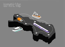 Map Finland isometric concept. 3d flat illustration of Map Finland Stock Photography