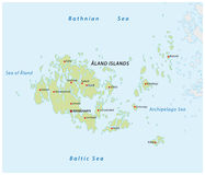Map of the Finnish island group Aland. Vector map of the Finnish island group Aland Stock Photo