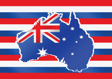 Map and flag of Australia idea design Royalty Free Stock Photography