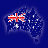 Map flag Australia (vector) Royalty Free Stock Images