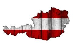 Map and flag of Austria Stock Photo