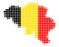 Map and flag of Belgium Royalty Free Stock Photo