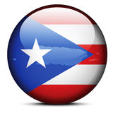 Map on flag button of Freely Associated State  Puerto Rico Stock Images