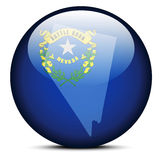 Map on flag button of USA Nevada State Royalty Free Stock Photos
