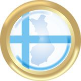 Map and flag from Finland. Round gold medal with map and flag from Finland Stock Photography
