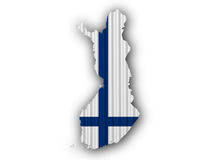 Map and flag of Finland Royalty Free Stock Photos