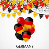 Map and flag of Germany Royalty Free Stock Images