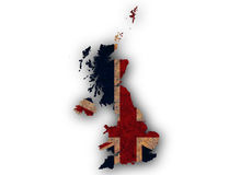 Map and flag of Great Britain on rusty metal,. Colorful and crisp image of map and flag of Great Britain on rusty metal Royalty Free Stock Images