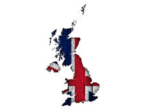 Map and flag of Great Britain on wood,. Colorful and crisp image of map and flag of Great Britain on wood Stock Photos