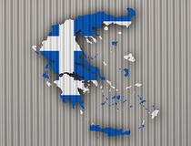 Map and flag of Greece Stock Image