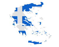 Map and flag of Greece Stock Images