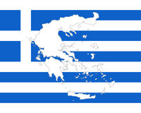 Map and flag of Greece Royalty Free Stock Image