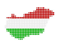 Map and flag of Hungary Royalty Free Stock Image