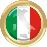 Map and flag from Italy Royalty Free Stock Photos