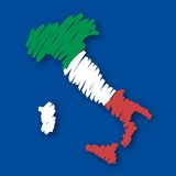 Map flag Italy (vector) Stock Photos