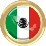 Map and flag from mexico Stock Photo