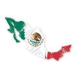 map flag Mexico (vector) Stock Photos