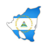 Map and flag of nicaragua Stock Photos