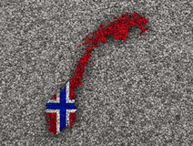 Map And Flag Of Norway Royalty Free Stock Images Image - Norway map and flag