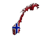 Map and flag of Norway on wood. Colorful and crisp image of map and flag of Norway on wood royalty free stock image