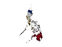 Map and flag of the Philippines on poppy seeds Royalty Free Stock Image