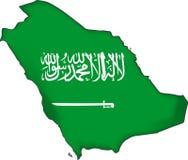 map flag Saudi Arabia (vector) Royalty Free Stock Images